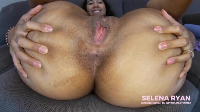 Close Up Asshole Worship JOI: Massive Latina Ass - SelenaRyan