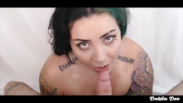 Inked BBW Talks and Teases for a MOUTHFUL of CUM!
