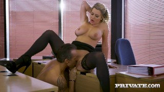 Private com – British Office Slut Sienna Day Milks Boss Dry!