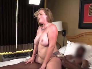 Busty Phat Strawberry Blonde Is Surprised & Gets Her 1st Big Black Cock!