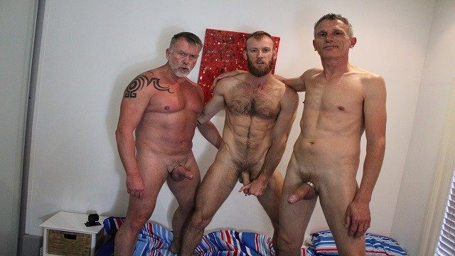 Mature gay men nude picks Real gay couple invite random aussie stranger and both fuck him raw