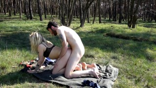 Fucking in the forest we got caught! Uncut version