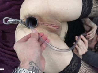 Drinking anal piss with speculum – anal pissing ass licking – Mya Quinn