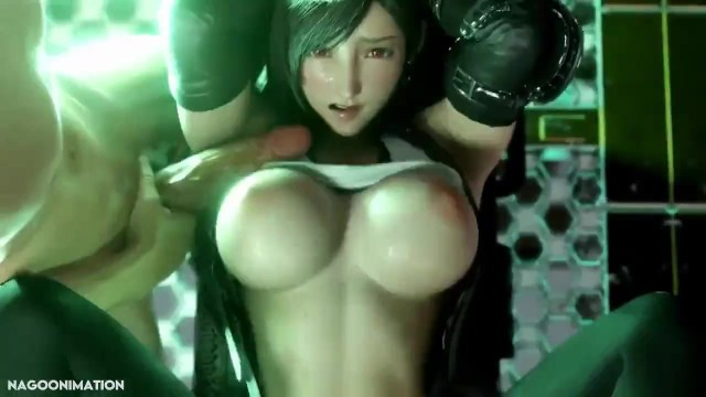 Female sex fantasy video Tifa getting fucked compilation w/sounds final fantasy