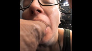Premature Ejaculation Ruined Orgasm Blowjob viewed through cock cam