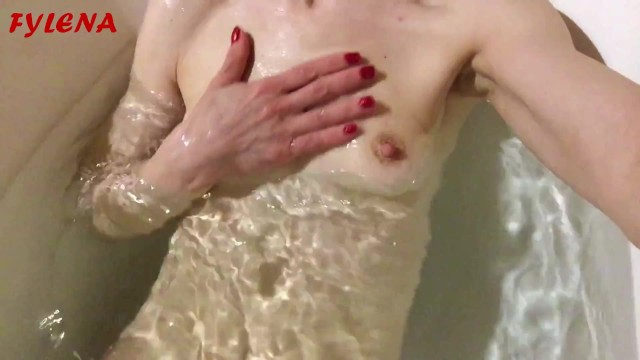 Water babies porn movie The horny whore masturbates and pees in the tub with water