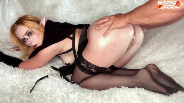 Dark elf porn Hard anal fuck of a cute elf girl - deep sucking closeup