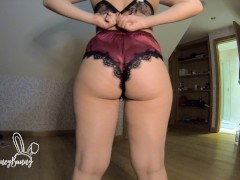 LACE AND SILK LINGERIE TRY ON HAUL - BIG ASS LATINA