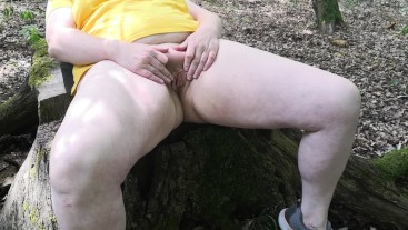 A day in the woods - hard public whipping labia