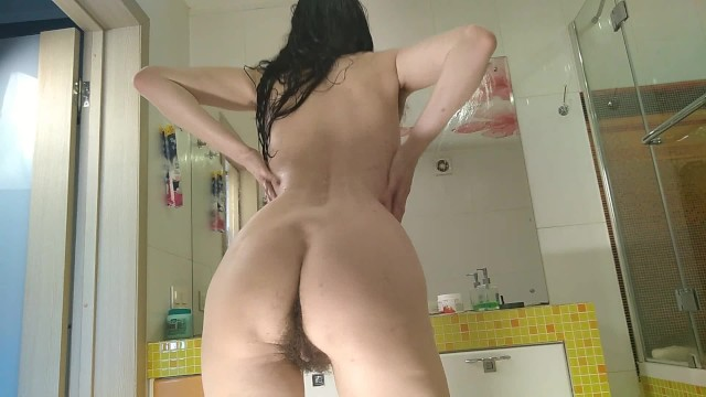 Cum on extreamly hairy bush compilation Shining russian milf shows hairy armpits and a thick bush and hairy ass ginnagg
