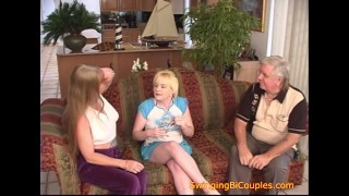 Извращенные би-родители учат тинку