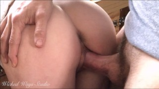 Snow Bunny Sits on Daddy's Lap and Makes Him Cum Twice in Her Tight Grippy Pussy