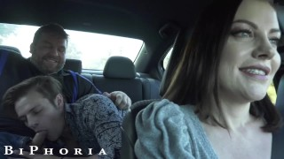BiPhoria - Hot Uber Driver Joins Horny Gay Couple In Backseat