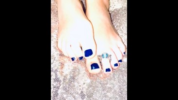 Blue Joi, fetish, feet, jewel