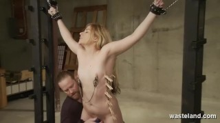 Masochistic Blonde Submits To Toys