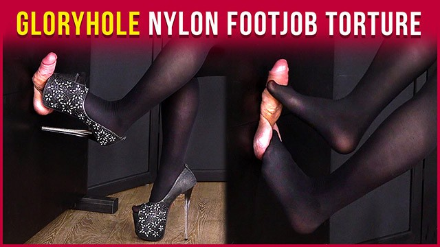Cock ball torture mistress Gloryhole nylon footjob cock and balls torture era