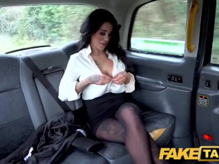 Fake Taxi Backseat anal fuck and big facial for hot British babe Alice Judge