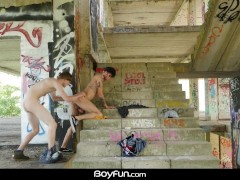 BoyFun - Skater Antony Carter Fucks Latino Roman Capellini Outdoors Bareback