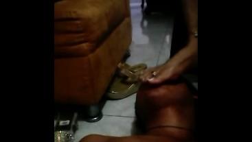 Footdom latin mistress