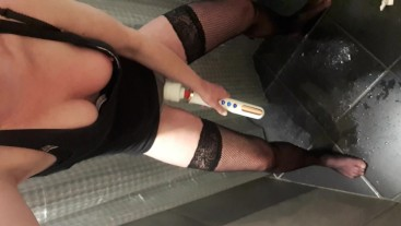 Pee in pants when get huge orgasm by Magic Wand
