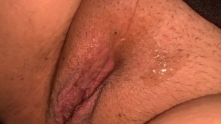 Hot creamy cum dripping down to tight little asshole ready for you to cum