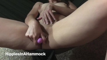 Amateur Hammock Sex with vibrator, OUR FIRST PORN EVER