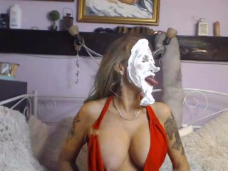 Pie in my face! Does this tickle your fancy?