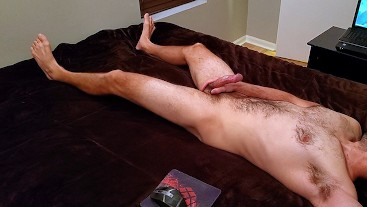 Thick Dick Hairy Str8 Guy's Verbal Orgasm (Wide Angle Version)