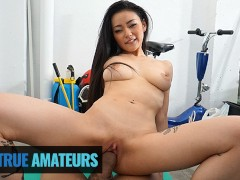 TrueAmateurs - Cute Asian Babe Knows How To Fuck Her Bf Big Hard Cock