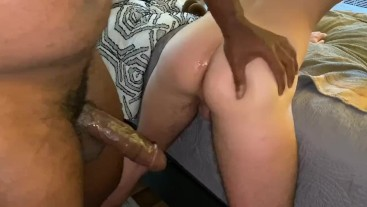 Jock Uses Dildo On Twink Before Pounding His Ass & Making Him Creamy