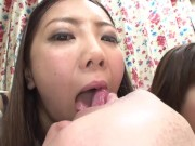 Japanese CFNM harem blowjobs by neighborhood wives