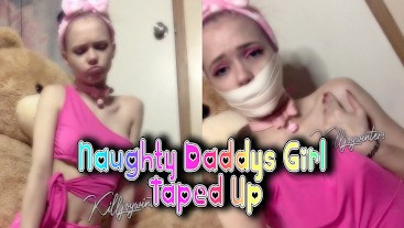 Naughty Daddy's Girl Taped Up