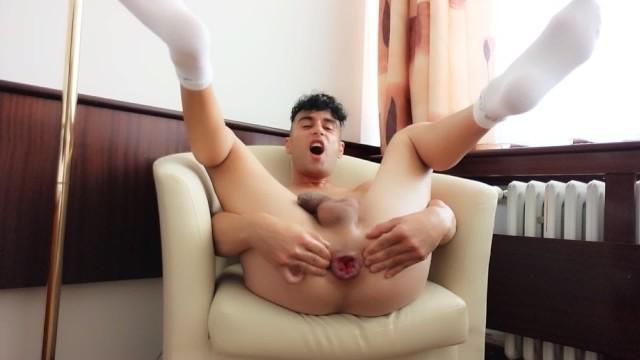 Gay anal finger Spread hole - rosebud , fingering , gaping