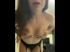 Amateur Shemale transgender gets naked and masturbates until she cum in her mouth