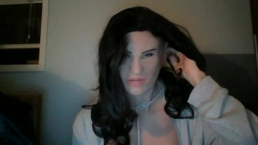 Playmate's Night Pt1! While masking my female mask Playmate you find out she is hiding something :3