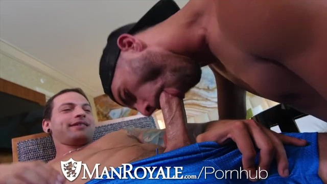Dick smith gay Manroyale dick sucking compilation with cum dumped on chest
