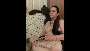 Wife playing Xbox