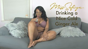 Drinking a Nice Cold Ginger Ale