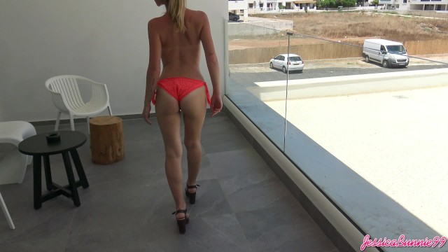 Sex on balcony Sex tape with blowjob in the balcony in ayia napa