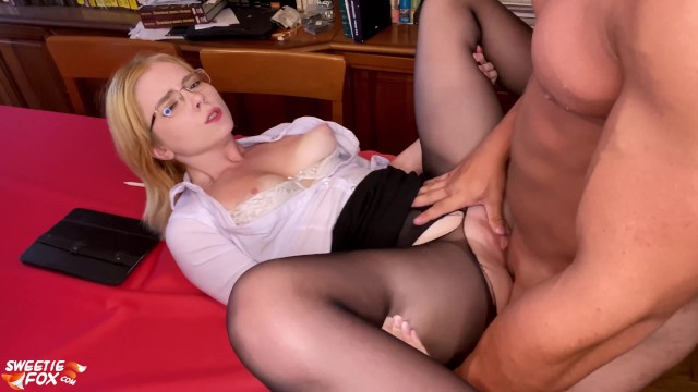 Redhead doggy sex vid fat Lover passionate facefuck and doggy fuck hot girlfriend - facial