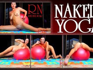 Yoga/2 yoga on fitball beauty