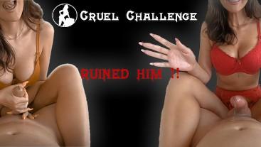 Fantastic Teasing Handjob Challenge leaves him with 2 Ruined Orgasms