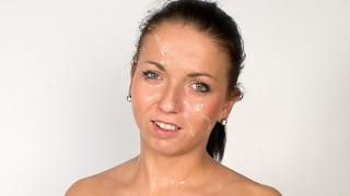 Teenie tries porn shocked by enormous facial