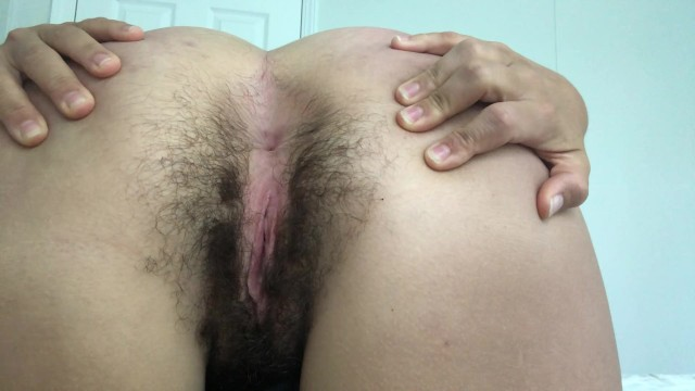 Hairey ass Hairy pussy and ass spread wink and queef