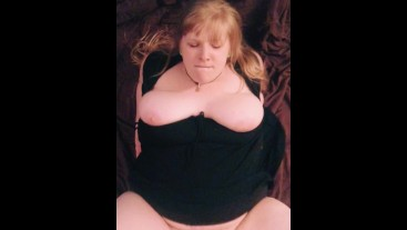 long haired chubby blonde squirts all over her wall mounted dildo missionary