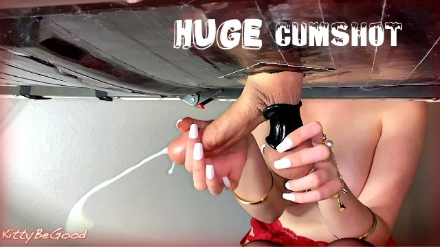 Hedge cock racing Amazing cock milking massage with massive cumshot