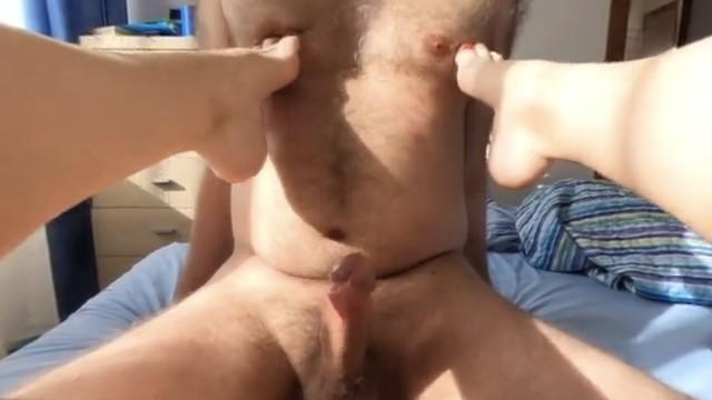 Free hand job movie porn Nipple job and hands free cumshot. female pov. vr