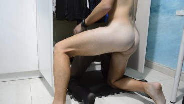 Stepbrother fuck his stepsister in the closet