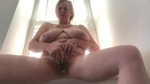 Naked blonde british Annabels quickly cucumber pussy fuck
