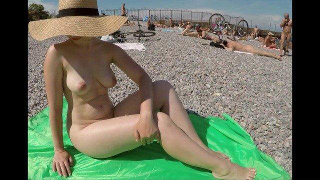Flashy babes karine nude Real amateur girl flashing nude body at public beach - nudist sexy wife with nice boobs